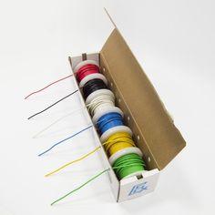 Wire Spool Kit Cardboard Dispensing Box Gauge Electrical 25 Feet DIY Projects #Electronix