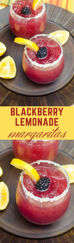 BLACKBERRY LEMONADE MARGARITAS #lemonade #drink