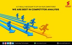 Is it really necessary to spy on your competitors? We are best in competitor analysis For more Information WhatsApp us @ +91 93 98 97 26 30 www.sophicapp.com #digitalmarketingcompany #bestdigitalmarketingagency #BesDigitalMarketingAgencyinhyderabad #DigitalMarketingCompanyHyderabad #digitalmarketingservices #topdigitalmarketingservices #BestDigitalMarketingServicesinHyderabad Competitor Analysis, Digital Marketing Services, Web Application, App Development, Spy, Mobile App, Technology, Tech, Mobile Applications