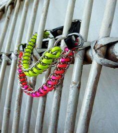 Popeye`s,Schmuck,Halsband,NEON,LOOP,Neon, Leather, Leder, Hunde Schmuckhalsband, Dog Jewelry, Dog Necklace