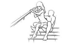 It's time for Romance A wareness Month round 2! This week's new position is the Stairway to Heaven, aka Step Lively.Benefits: Great grips to really get going! Find out how to do it and how to take it a step further here: