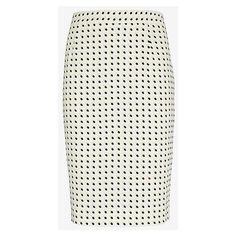 A.L.C. Bell Happy Pill Print Pencil Skirt ($309) ❤ liked on Polyvore featuring skirts, a.l.c., print pencil skirt, white pencil skirt, silk skirt et silk pencil skirt