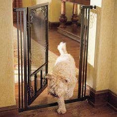 42 h tension mount dual door steel mesh pet gate for Door to gate kontakt
