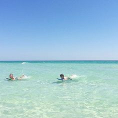 These kids love swimming in the emerald waters in south walton at sandestin golf and beach resort in the summer.   Thanks for sharing on Instagram linzpo!    Book your vacation now: www.sandestin.com