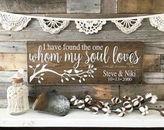 "Song of Solomon | I have found the one whom my soul loves | Wedding Sign | Wedding Decor | Wedding Gift | Anniversary Gift (24"" x 9.25"") #weddingdecoration"