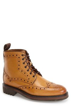 Oliver Sweeney 'Selby' Wingtip Boot (Men) available at #Nordstrom