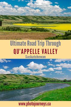 The ultimate Saskatchewan road trip takes you through the Qu'Appelle Valley where you'll find historic sites, provincial parks, beaches, nature reserves, and long sections of lonely backroads with little traffic. Canada Trip, Visit Canada, Canada Travel, West Coast Canada, Montreal Travel, Perfect Road Trip, Valley Road, Road Trip Destinations, Camping Places