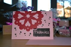 Thank you Card, £2.00