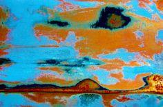 Tangerine & Blue Summer Sky