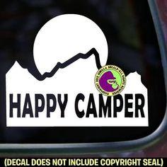 Mountain HAPPY CAMPER Vinyl Decal Sticker