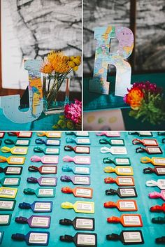 And luggage tags can double as escort cards: | 27 Creative Ideas For A Travel-Themed Wedding