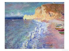 Etretat Claude Monet | Morning at Etretat, 1883 Gicléedruk van Claude Monet bij AllPosters ...