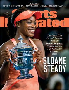 New Fashion Leader New Age Face : Tennis Star Sloane Stephens Celebrates US Open Win With ' Sports Illustrated ' Cover ! Pro Tennis, Lawn Tennis, Fitness Words, American Tennis Players, Sloane Stephens, Sports Illustrated Covers, Professional Tennis Players, E 38, Tennis Stars
