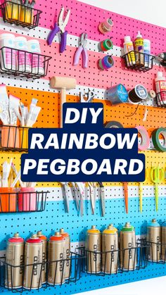 Sewing Room Organization, Craft Room Storage, Pegboard Craft Room, Craft Rooms, Garage Storage, Storage Ideas, Easy Crafts, Cute Crafts, Craft Shed