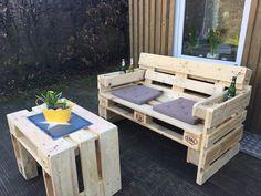 Garnituren - Gartensofa aus Paletten - ein Designerstück von Upcycling-Hamburg bei DaWanda