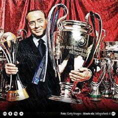 W tym czasie AC Milan zdobył aż 28 trofeów • Silvio Berlusconi 30 lat temu przejął AC Milan • Świetny okres za panowania Silvio >> #acmilan #milan #football #soccer #sports #pilkanozna