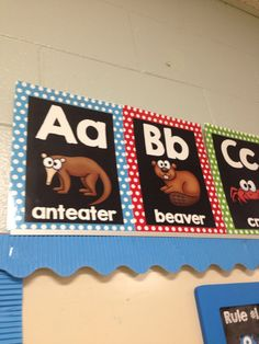 Alphabet Posters in Primary Polka Dot Colors