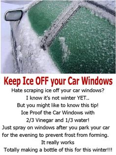 Car fix diy Watches Car Cleaning Hacks, Car Hacks, House Cleaning Tips, Cleaning Solutions, Simple Life Hacks, Useful Life Hacks, Cleaning Car Windows, Winter Hacks, Winter Tips