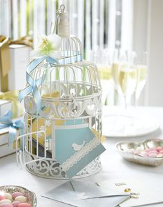 bird cage for guest's messages to the married couple