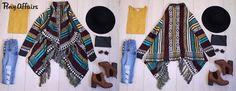 #sweaterweather #warmcardigan #aztec #casualstreet #bohostyle #fall/winter2016