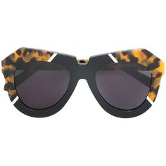 Karen Walker Eyewear oversized tortoiseshell trim sunglasses (€340) ❤ liked on Polyvore featuring accessories, eyewear, sunglasses, black, karen walker sunglasses, oversized eyewear, over sized sunglasses, karen walker eyewear and plastic glasses