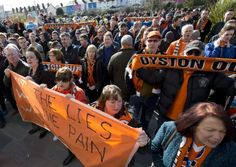 """Furious Blackpool FC fans today delivered their damning verdict on a shambolic season after being relegated from the Championship, telling chairman Karl Oyston: """"There is no excuse."""""""