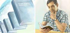 La Biblia en muchos idiomas; un hombre leyendo la Biblia en su idioma