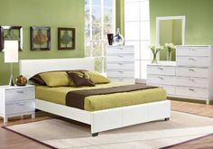 Gardenia White 5 Pc Queen Upholstered Bedroom . $799.99.  Find affordable Queen Bedroom Sets for your home that will complement the rest of your furniture.#iSofa #roomstogo