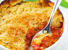 Crumble salé aux tomates, facile et pas cher