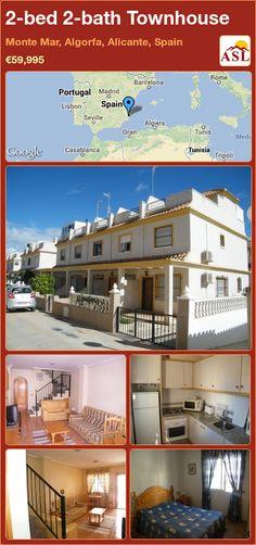 2-bed 2-bath Townhouse in Monte Mar, Algorfa, Alicante, Spain ►€59,995 #PropertyForSaleInSpain