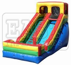 Inflatable Dry SlideInflatable Dry Slide  Model No: E3-027 	Brand Name: East  Place of Origin: China 	Size(Feet):26ft(L)x15ft(W)x18ft(H)  Weight: Kg 	Size(Meter): 8m(L)×4.5m(W)×5.5m(H)