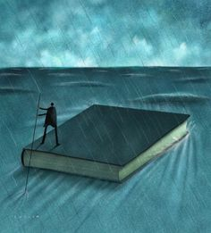 Illustrations about books - Dave Cutler - Sail safe I Love Books, Books To Read, Reading Art, What Book, World Of Books, Lectures, Surreal Art, Book Photography, Book Illustration