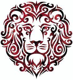 Lionheart Tribal Tattoo Lion