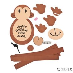 Chinese New Year Paper Chain Monkey Craft Kit Chinese New Year Zodiac, Chinese New Year Party, Chinese New Year Crafts, Happy Chinese New Year, New Years Party, New Year's Crafts, Fun Crafts, Diy And Crafts, Craft Kits