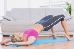 These are the best yoga poses for pelvic floor problems and slowly moving through these postures is important, so you don't overload the muscle groups. Pelvic Tilt, Pelvic Floor, Beginner Workouts, Workout For Beginners, Bola Medicinal, Bridge Pose, Vagina, Yoga Posen, Cool Yoga Poses