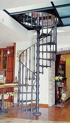 Escalier colimaçon en fonte d'acier