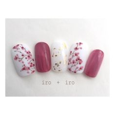 Opting for bright colours or intricate nail art isn't a must anymore. This year, nude nail designs are becoming a trend. Here are some nude nail designs. Cherry Blossom Nails, Cherry Blossoms, Japan Nail, Japanese Nail Art, Japanese Nail Design, Kawaii Nails, New Year's Nails, Trendy Nail Art, Luxury Nails
