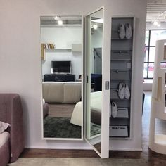 Kristalia's Foot Box pulling double duty at #429Richmond. Functioning as both a mirror and storage unit that can hold up to 18 pairs of shoes. https://www.facebook.com/photo.php?fbid=723098697752035
