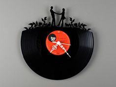 Vinyl LP Record Wall Clock with a Cool and geeky twist ;)