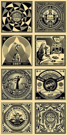 "Shepard Fairey (b. ""OBEY the Giant"", b. Posters Various. Graphic Design Illustration, Graphic Art, Shepard Fairey Art, Shepard Fairy, Obey Art, Propaganda Art, Political Art, Art Moderne, Arte Pop"