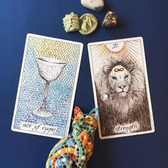 5/6-7/16 - Ace of Cups and Strength ask us to dig deep and listen to our emotional truth. There's going to be lot of surface stimulation the next couple days, which may spark a whole array of messy emotions that you may feel overwhelmed, confused or distracted by. It may also drive you to want to act or react quickly. Both these cards ask us to pause first and find the quiet place beneath all the surface jumbo. The Ace says that you have an emotional core and place of stability that will…