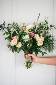 Boho Garden Wedding - Boho Bouquet! Sunkissed Blooms floral design photographed by Lyndsey A Photography at Ashley Inn in Kentucky. Wedding florals with lots of lush greenery and garden-inspired natural textures.