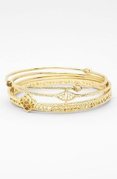 Free shipping and returns on Kendra Scott 'Jordana' Bangles (Set of 5) at Nordstrom.com. Three stones add a pop of color to a pretty set of intricately detailed bangles.