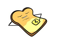 Toast and butter, so wrong - animated.