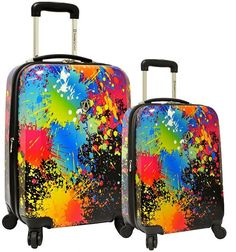 Traveler's Choice Paint Splatter 2-Piece Hardside Spinner Luggage Set $404.99 http://shopstyle.it/l/g1Wq
