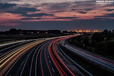 Highway dusk by Andras Bacskai on 500px