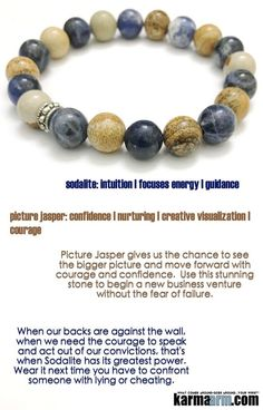 Beaded Yoga Bracelets | Reiki Healing | Meditation Jewelry ♛ #Picture #Jasper gives us the chance to see the bigger picture and move forward with courage and confidence.. #Blue #Brown #reiki Healing #Bracelets #BEADED #Gemstone #Mens #GiftsForHim #Lucky #womens #Jewelry #gifts #Chakra #Healing #Kundalini #Law #Attraction #LOA #Love #Mantra #Mala #wisdom #CrystalEnergy #Spiritual #Gifts #Mommy #Blog #Meditation #prayer #mindfulness #friendship