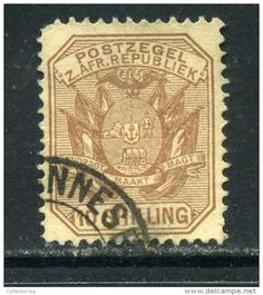 "ULTRA RARE 10 SHILLING POSTZEGEL 1890""S Z.AFRICA BRITAIN COLONIES GB MINT USED STAMP TIMBRE NO OTHER IN SITE - South Africa (...-1961)"