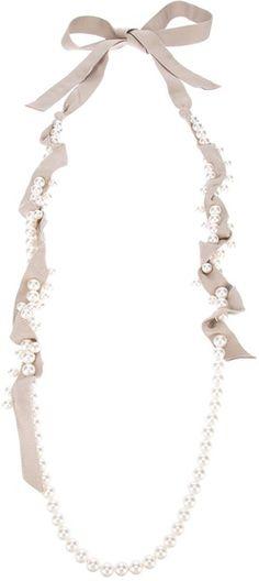 LANVIN PARIS   Long Necklace - Lyst