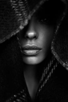 BlackAndWhite Face Portrait Photography | #BlackAndWhite #Face #Portrait #Photography | Pin by @settimamas